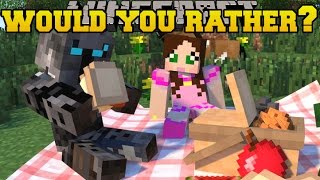 getlinkyoutube.com-Minecraft: WOULD YOU RATHER? (CRAZY QUESTIONS!) Mini-Game