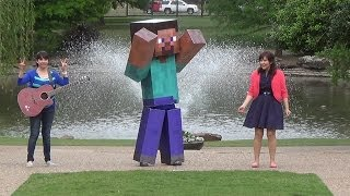 getlinkyoutube.com-HAPPY by Pharrell - Minecraft Steve Real Life