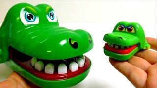 getlinkyoutube.com-Mini Croco Doc - Dentist Toy with Big Croco Mom
