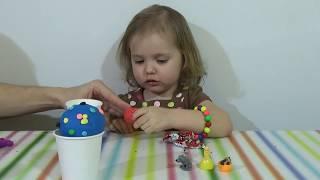 getlinkyoutube.com-Маша и медведь Мороженое с сюрпризом игрушки Ice Cream Play-doh Angry Birds Lalaloopsy
