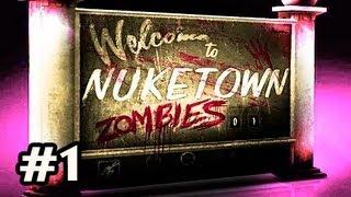 Nuketown Zombies Black Ops 2 w/ Sp00n Ep.1 - EVERYTHING BROKEN