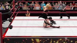 WWE 2K17 Raw Paige vs Natalya