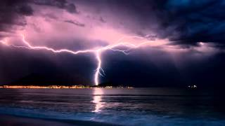 getlinkyoutube.com-Thunderstorm and Rain Sounds over the Ocean , 10 hours [ Sleep Music ]