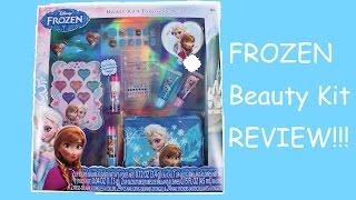 getlinkyoutube.com-FROZEN MAKEUP BEAUTY KIT FROZEN TOY Disney Princess Elsa Anna Olaf -- Beauty Kit Unboxing