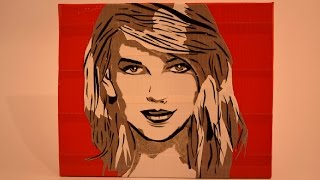 getlinkyoutube.com-Taylor Swift Duct Tape Painting Timelapse ♥