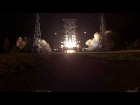 360-degree view of Tianzhou-1 cargo spacecraft launch - countdown