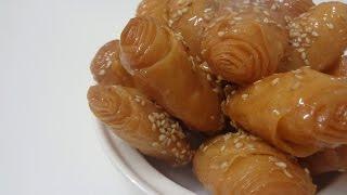 getlinkyoutube.com-شهيوات رمضانيةCollaboración: Crujientes fritos con miel,Rghayef fritos con miel,الرغايف معسلين