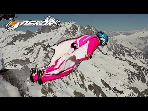 A Crazy WINGSUIT and BASEJUMP Session   FLY 2014