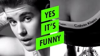 getlinkyoutube.com-Justin Bieber drumming FAIL - Calvin Klein 'My Hands Hurt'