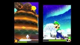 getlinkyoutube.com-Mario & Luigi: Dream Team Bros - Parte 33 - El Volcán - ¡¡ Combate de Colosos !! - Chequio