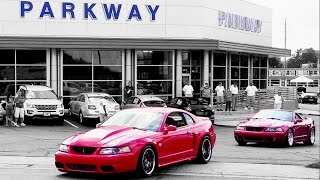 getlinkyoutube.com-Mustangs leaving SVT Cobra Club ★ Parkway Ford Show 2015 (3 of 3)