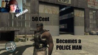getlinkyoutube.com-GTA IV LCPDFR 50 Cent Patrol with Webcam - Retired Rapping Now Police Man + Bugatti Veyron
