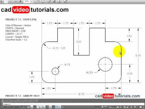 AutoCAD 2012 Drawing Project - Stop Link.