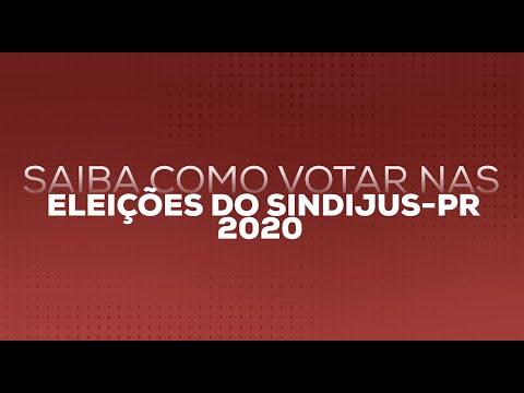 Tutorial Eleições Sindijus-PR 2020: Saiba como votar!