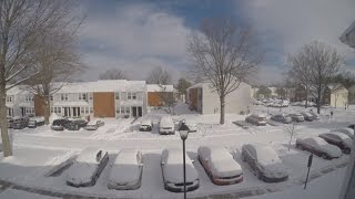 getlinkyoutube.com-Feb 16-17 2015 Snowstorm in Virginia - GoPro Time-Lapse + Mustang Surveillance!