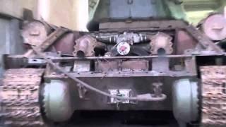 getlinkyoutube.com-Т 34 Холодный запуск двигателя