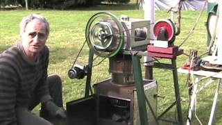getlinkyoutube.com-Demonstration of a wood burning Stirling engine.