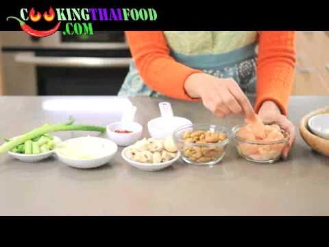 How to make Cashew Chicken Recipe - Thai Stir Fried Chicken with Cashew Nuts Thai Food Video