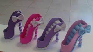 Zapato mini joyero de goma eva