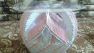 getlinkyoutube.com-Origami Basket Tutorial & My Origami Collection