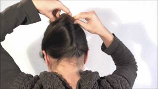 getlinkyoutube.com-[Hairstyle] 1 minute french twist with a stick