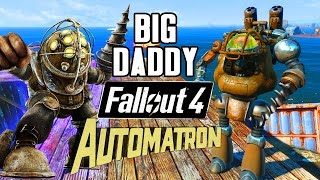getlinkyoutube.com-BIG DADDY from Bioshock | Fallout 4 Automatron Robot Creation
