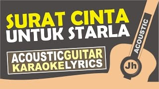 Virgoun - Surat Cinta Untuk Starla ( Karaoke Acoustic ) width=