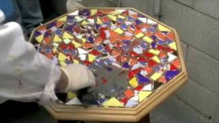 getlinkyoutube.com-How To- Mosaics Grouting & polishing