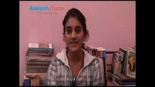 Aakash iTutor Testimonial:Deepali Thukral(Class 11th Medical iTutor Student)
