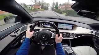 getlinkyoutube.com-Mercedes S-Class S500 L Plug-In Hybrid 2014 POV test drive GoPro