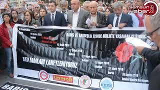 Samsun'da 10 Ekim Katliamı Unutulmadı