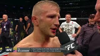 UFC 217: TJ Dillashaw Octagon Interview
