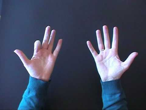 Multiplying by nine using your hands