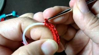Pulcera de colores reciclada y a crochet