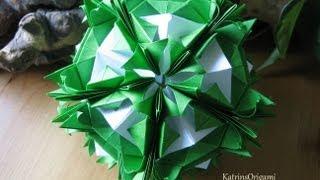 getlinkyoutube.com-Origami ✿⊱╮ Florentia ✿⊱╮ Kusudama