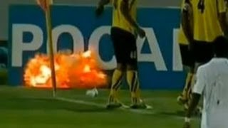 getlinkyoutube.com-'Grenade' Explodes During Soccer Match