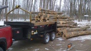 getlinkyoutube.com-loading dump trailer with winch