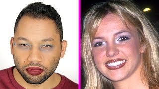 getlinkyoutube.com-Guys Try '90s Makeup Trends