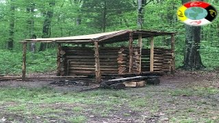 getlinkyoutube.com-Building my trappers cabin