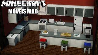 Minecraft: MÓVEIS MOD (Computador, TV, Geladeira, Fogão, Sofá, Privada e muito mais!) FURNITURE Mod