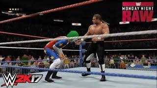 getlinkyoutube.com-WWE 2K17 - HHH vs. Doink the Clown: Monday Night Raw | PS4/Xbox One Gameplay