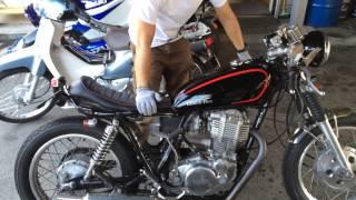 getlinkyoutube.com-自分で出来るバイクメンテ SR400カスタム車の簡単な日常点検