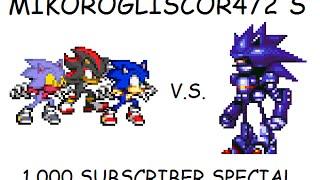 getlinkyoutube.com-Sonic, Shadow and Glisonicor vs. Mecha Sonic (1,000 Subscriber Special)