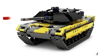 getlinkyoutube.com-Lego Technic Tank M1 Abrams