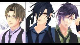 getlinkyoutube.com-【MMD刀剣乱舞】STEP【燭台切/長谷部/明石】