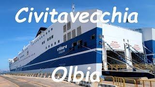 Civitavecchia to Olbia ferry trip on MS Athara