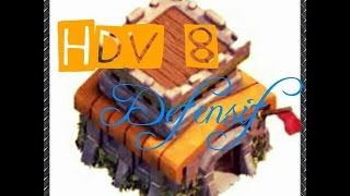 getlinkyoutube.com-Village Hdv8 Defensif 4 Mortier !