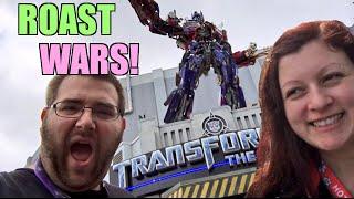 getlinkyoutube.com-HEEL WIFE VS FAT MAN ROAST WARS Universal Studios Florida Vacation Vlog PART 1
