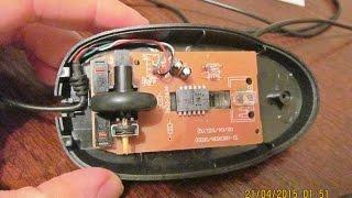 getlinkyoutube.com-Repair of optical mouse with a toothpick / Ремонт оптической мышки с помощью зубочистки