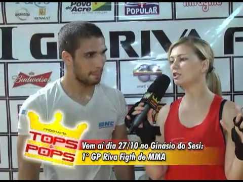 RAQUEL LUTA MMA ACADEMIA RIVA FIGHT TEAM  - Programa Tops & Pops 20.10.12
